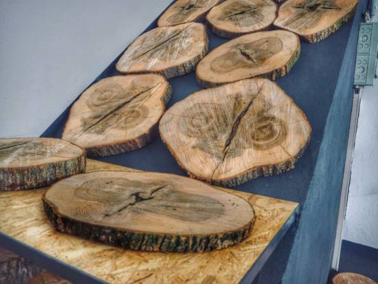 """Mehr als """"nur"""" Brennholz – Holzscheiben zum Basteln"""